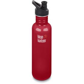 Klean Kanteen Classic - Recipientes para bebidas - Sport Cap 800ml rojo